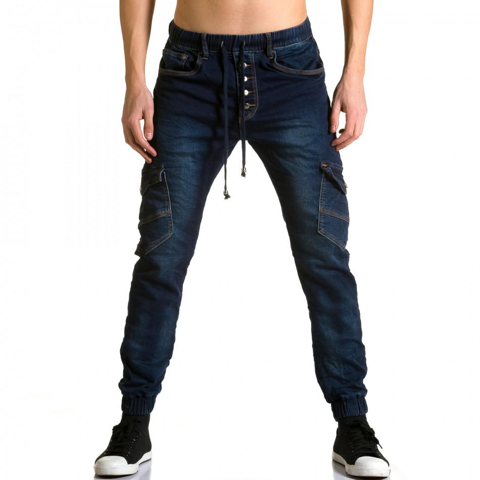 Ανδρικό γαλάζιο τζιν Justing ca190116-8