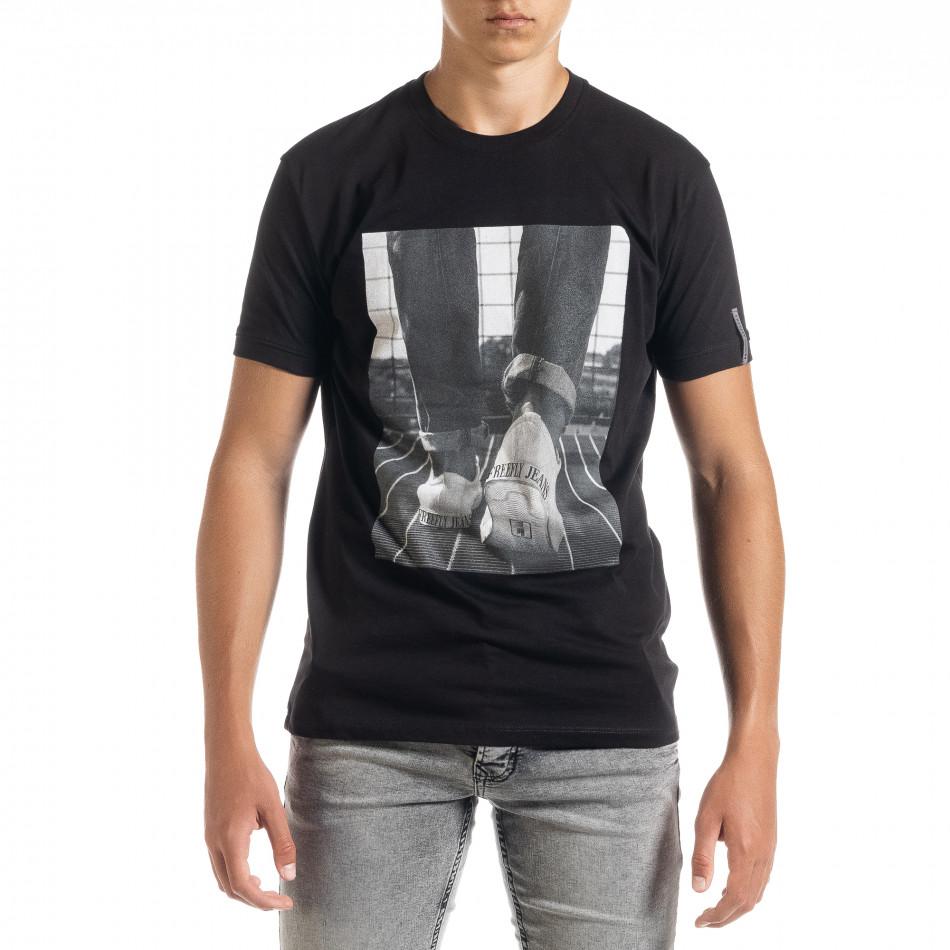 Ανδρική μαύρη κοντομάνικη μπλούζα Freefly tr010720-32