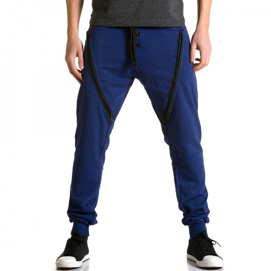 Ανδρικό γαλάζιο παντελόνι jogger DelPiero ca190116-26