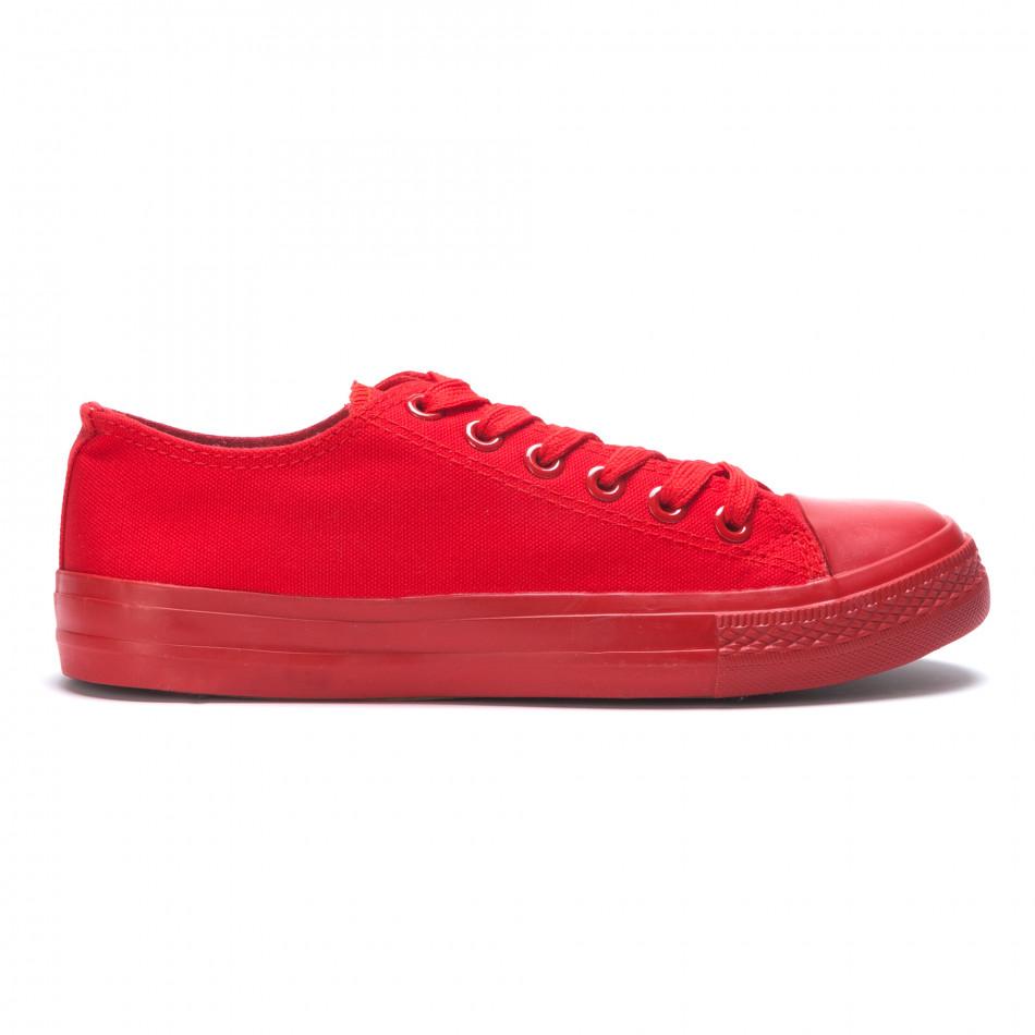 Ανδρικά κόκκινα sneakers Bella Comoda iv220420-1