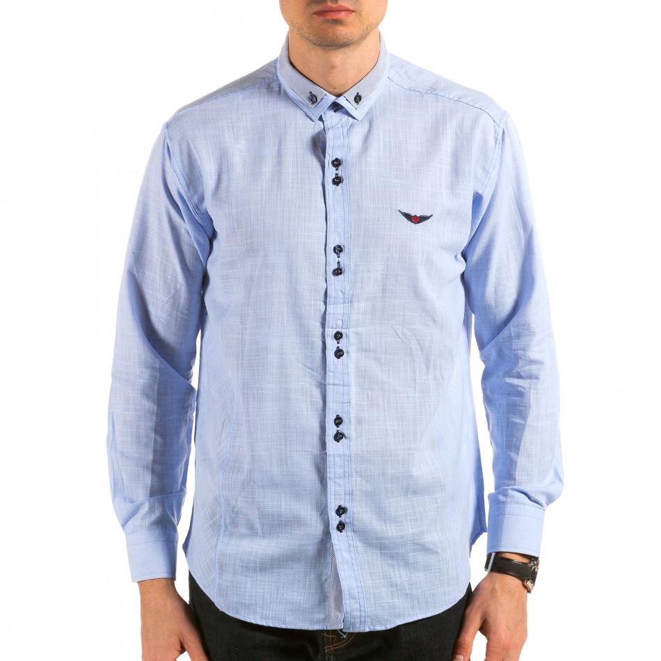 Ανδρικό γαλάζιο πουκάμισο Royal Kaporal il180215-172