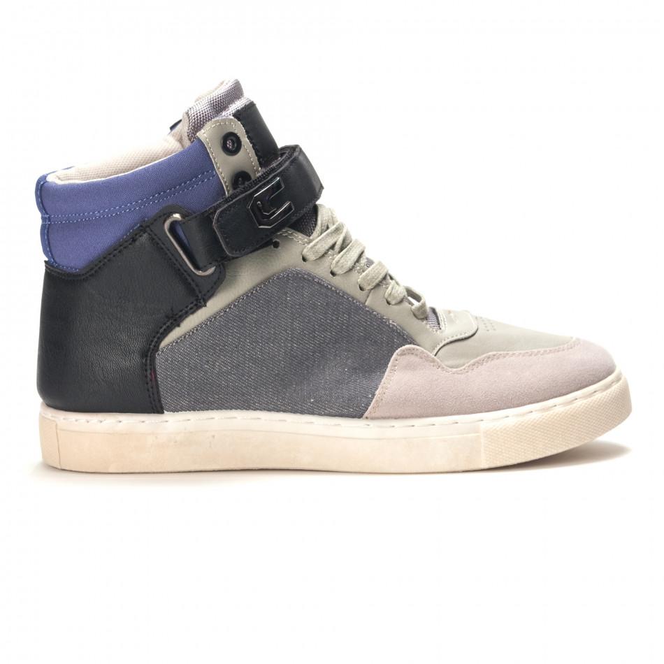 Ανδρικά γκρι sneakers Reeca it100915-17