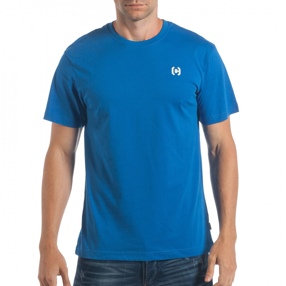 Ανδρική γαλάζια κοντομάνικη μπλούζα CROPP lp180717-193