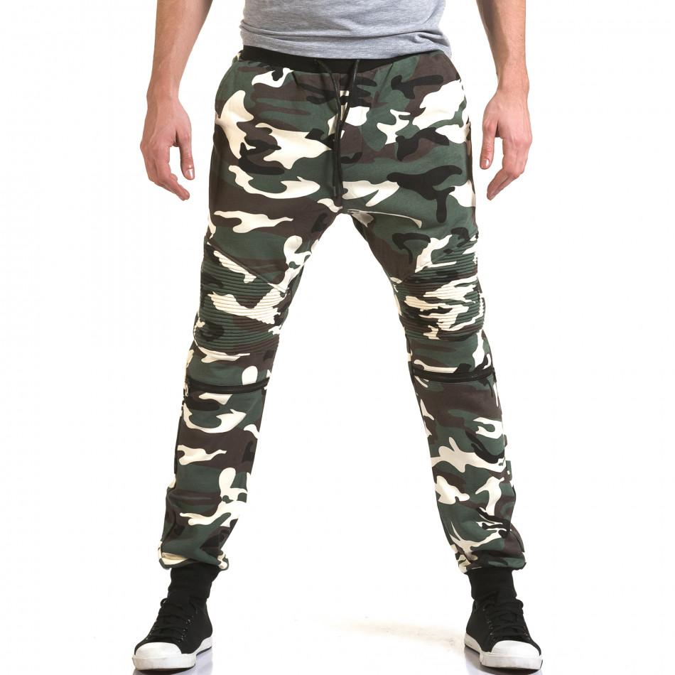 Ανδρικό πράσινο παντελόνι jogger Maximal it090216-59