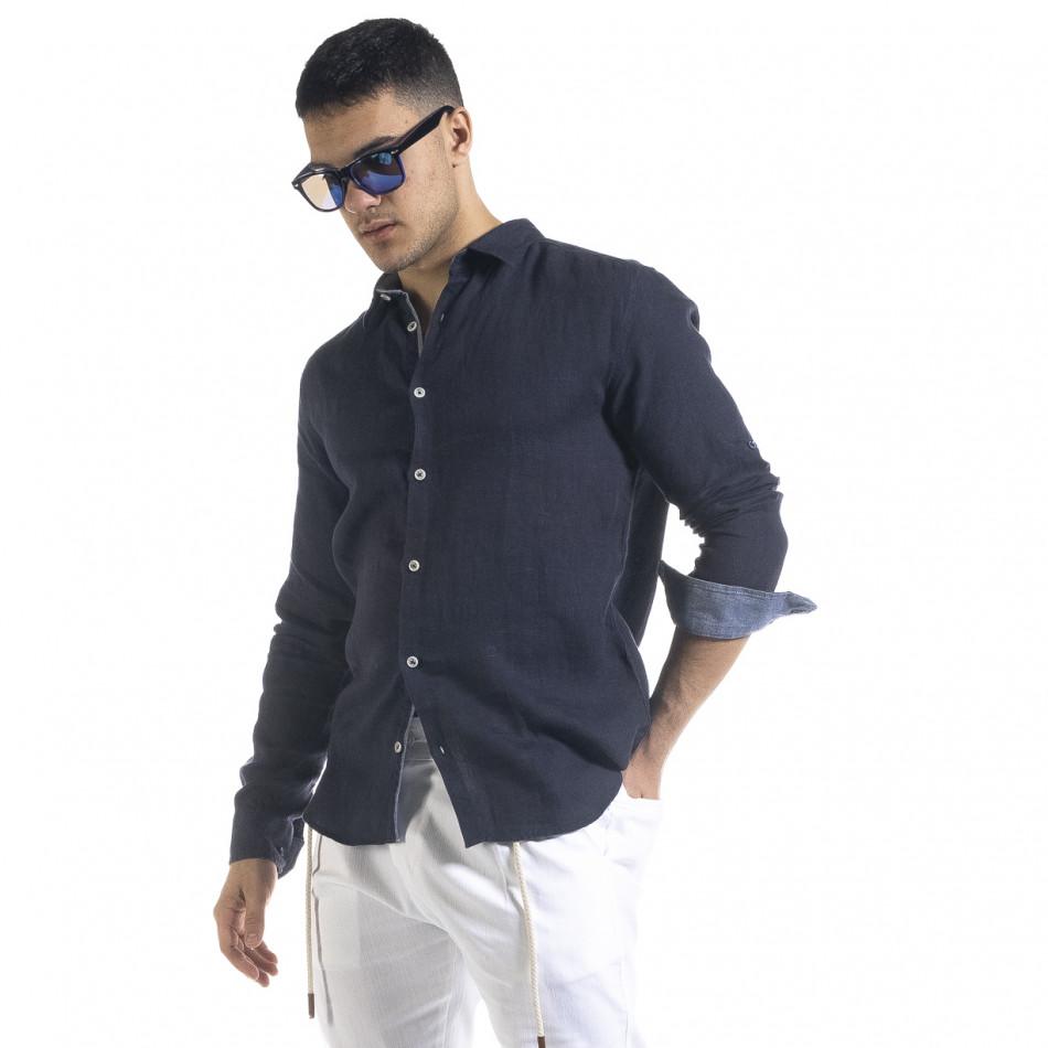 Ανδρικό μπλε πουκάμισο RNT23 tr110320-93