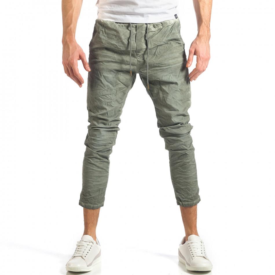 Ανδρικό πράσινο παντελόνι Y-Two it290118-3