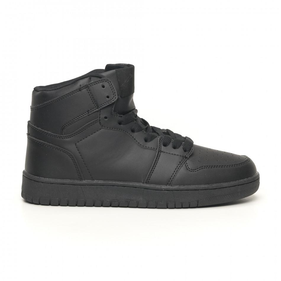Ανδρικά ψηλά μαύρα sneakers it051219-1