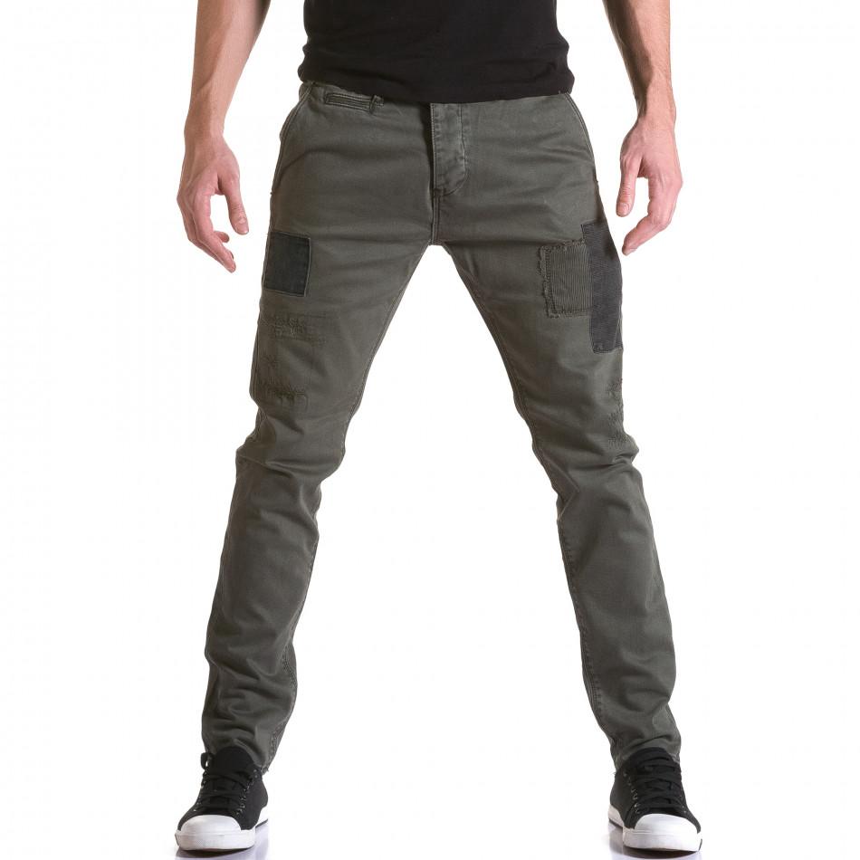 Ανδρικό πράσινο παντελόνι Y-Two it031215-17