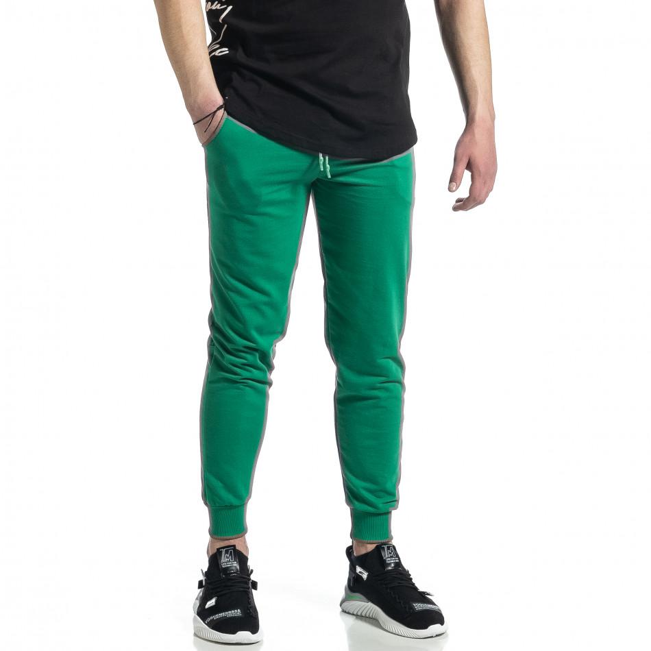 Ανδρική πράσινη φόρμα βαμβάκι Basic it270221-19