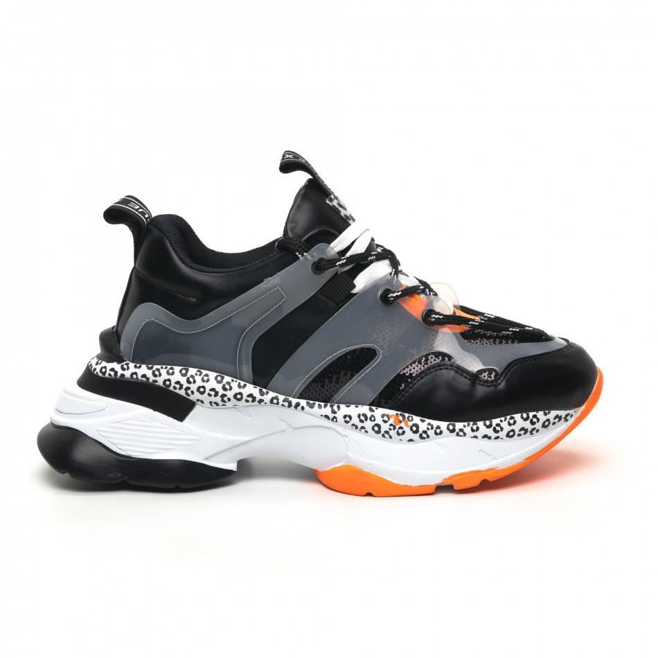 Γυναικεία μαύρα sneakers Sense8 tr180320-14