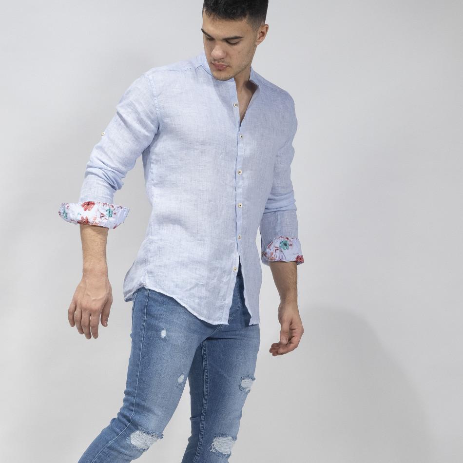 Ανδρικό γαλάζιο πουκάμισο RNT23 tr110320-89