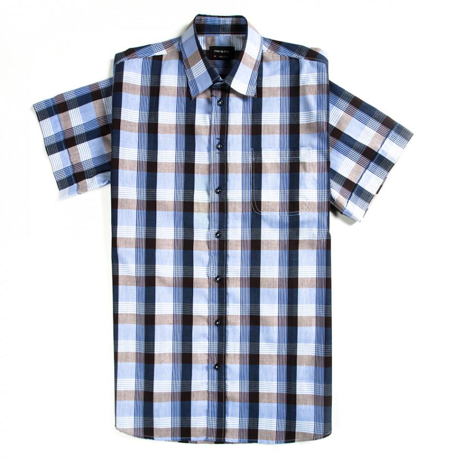 Ανδρικό κοντομάνικο πουκάμισο Pre End 120213-5