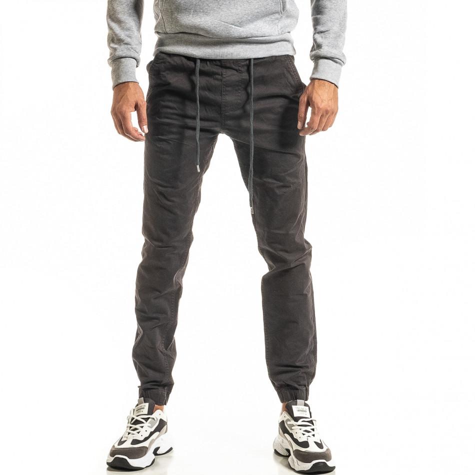 Ανδρικό γκρι παντελόνι Jogger tr300920-10
