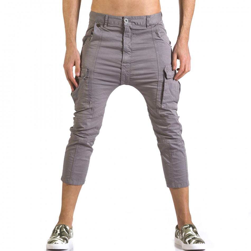Ανδρικό γκρι παντελόνι XZX-Star it110316-32