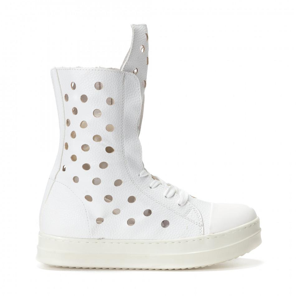 Γυναικεία λευκά μποτάκια Fersini it240118-29