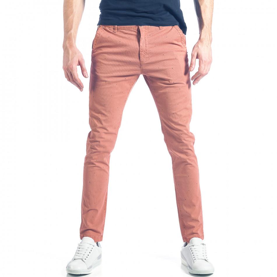Ανδρικό ροζ παντελόνι XZX-Star it290118-35