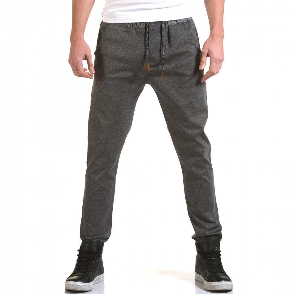 Ανδρικό γκρι παντελόνι Jack Berry it090216-29