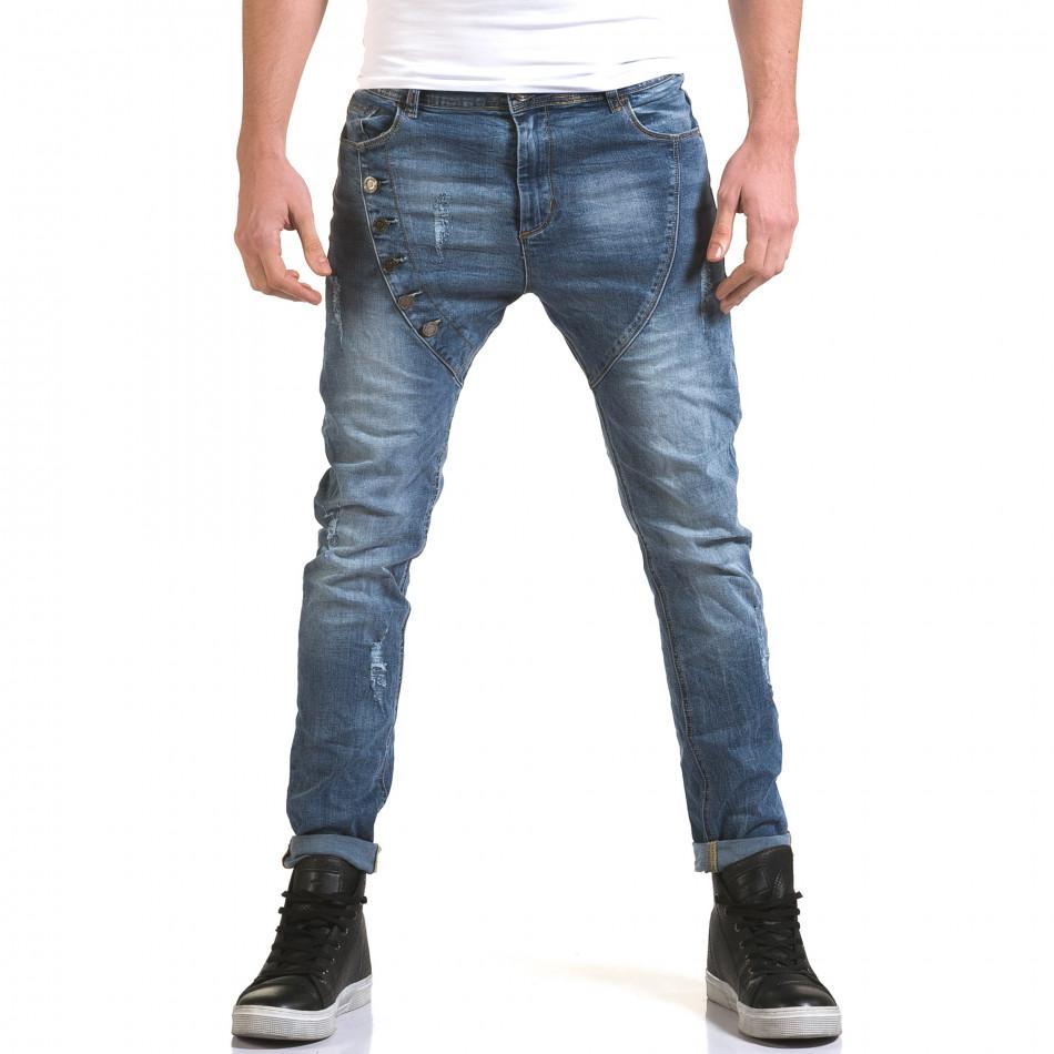 Ανδρικό γαλάζιο τζιν Jack Berry it090216-5