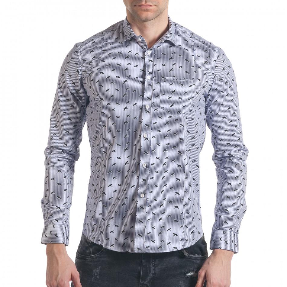 Ανδρικό γαλάζιο πουκάμισο Furia Rossa it140317-2