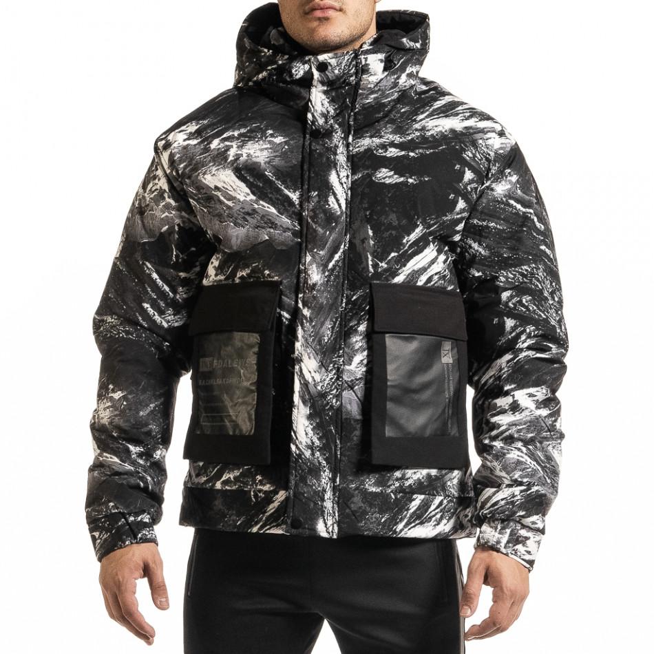Ανδρικό καμουφλαζ χειμωνιάτικο μπουφάν X-Feel it301020-11