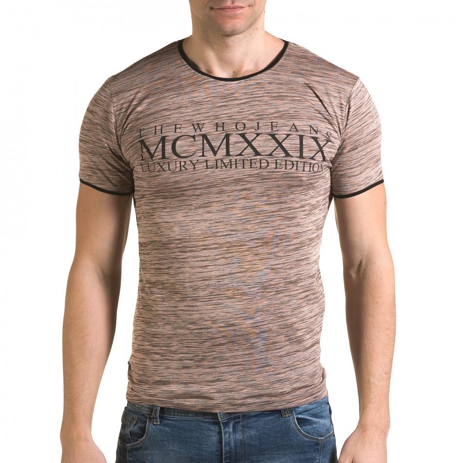 Ανδρική ροζ κοντομάνικη μπλούζα Lagos il120216-37
