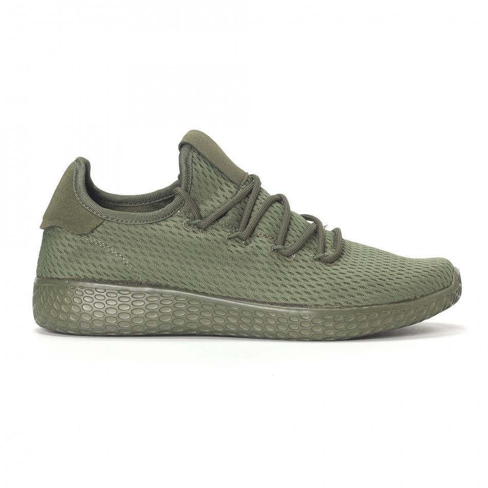 Ανδρικά πράσινα ελαφριά αθλητικά παπούτσια All-green it240418-7