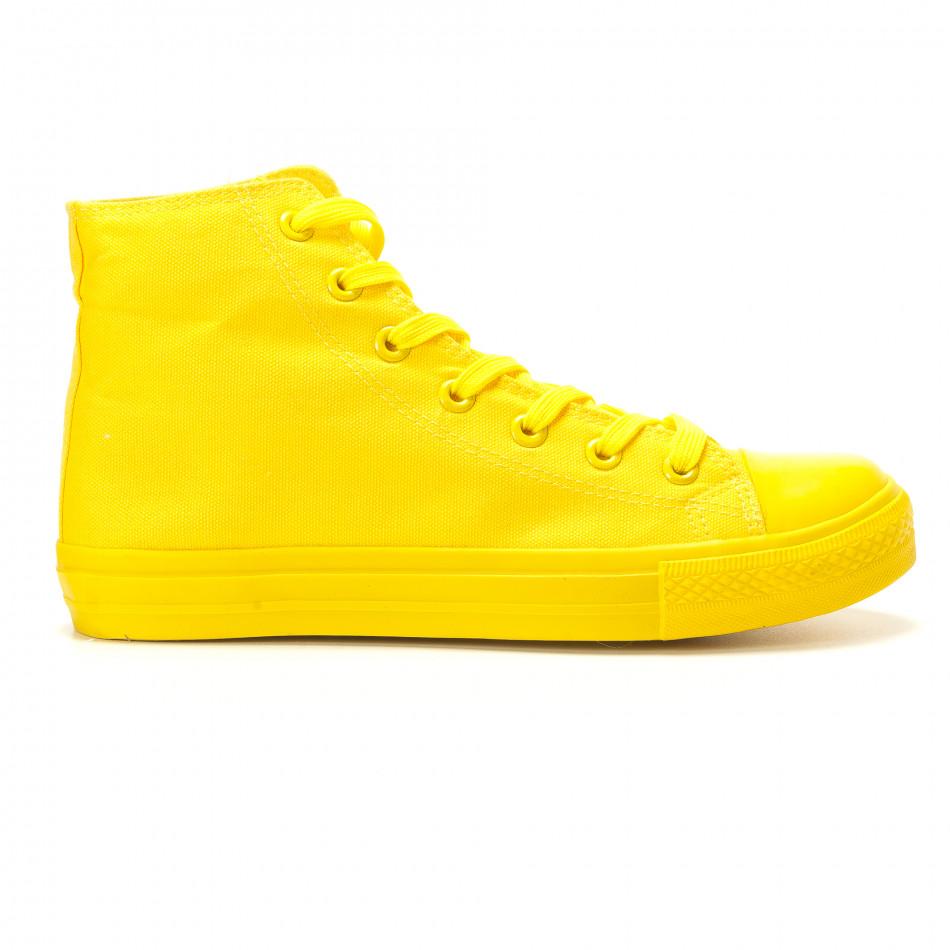 Ανδρικά κίτρινα sneakers Bella Comoda it260117-36