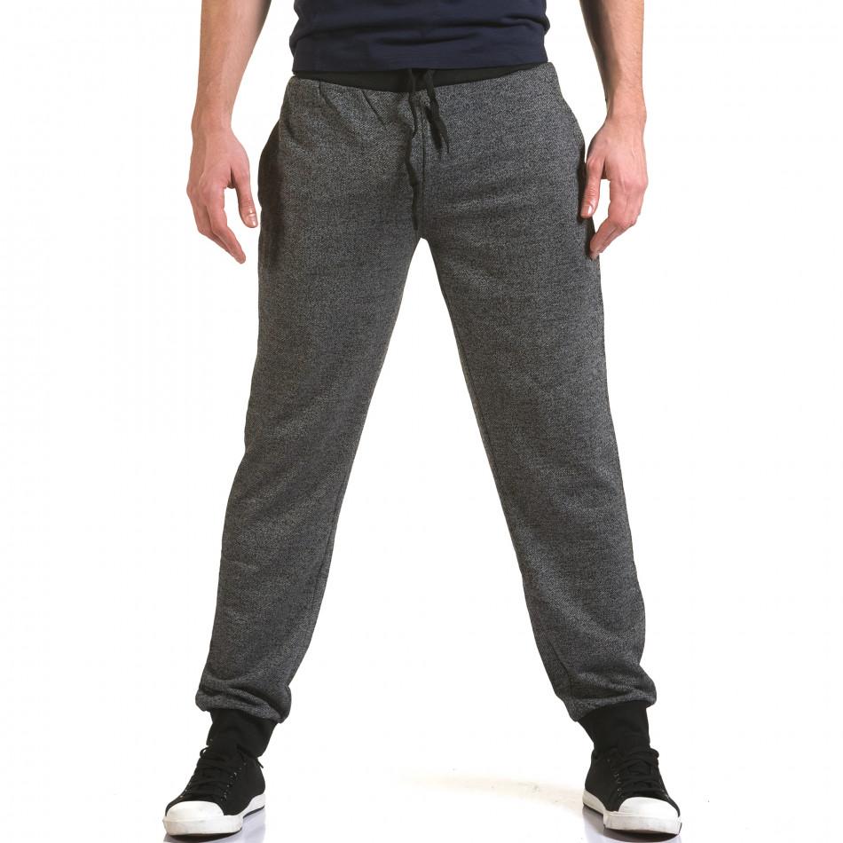Ανδρικό γκρι παντελόνι jogger Eadae Wear it090216-52