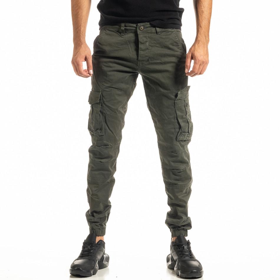 Ανδρικό πράσινο παντελόνι cargo Jogger tr300920-4