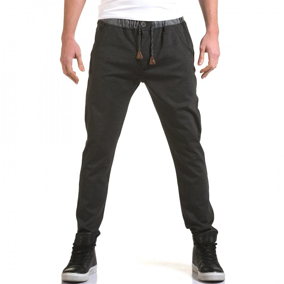 Ανδρικό γκρι παντελόνι Jack Berry it090216-31