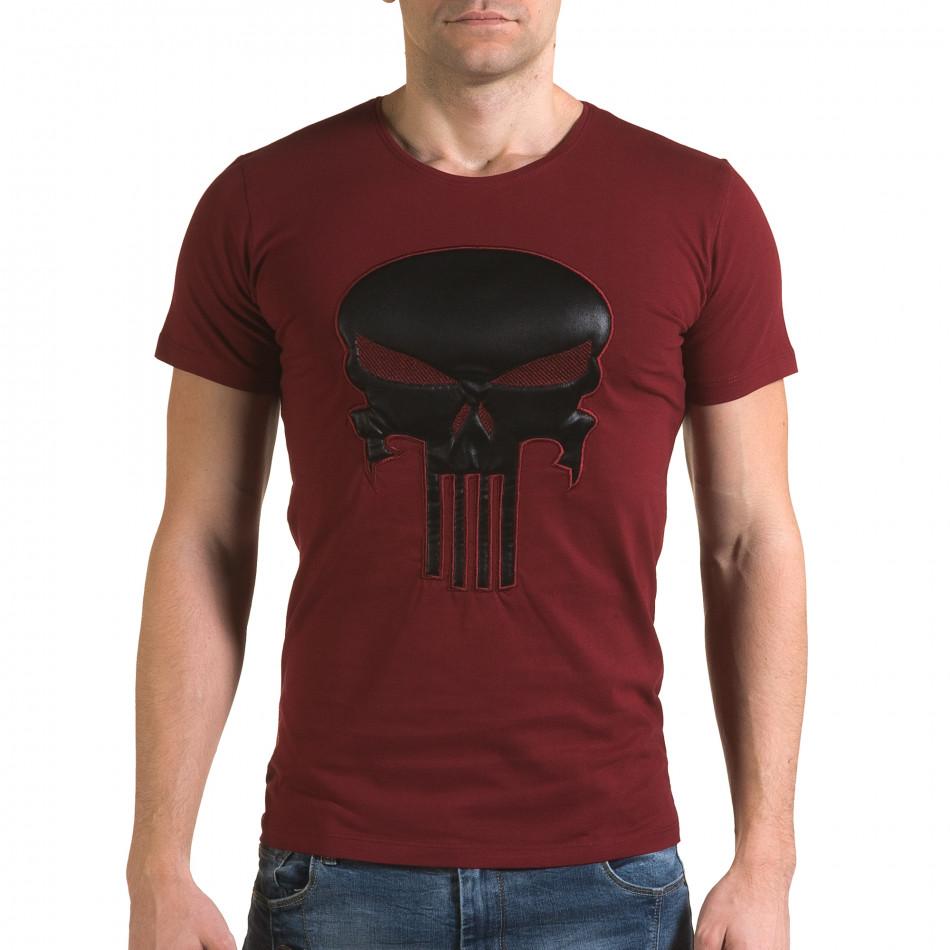 Ανδρική κόκκινη κοντομάνικη μπλούζα Lagos il120216-27