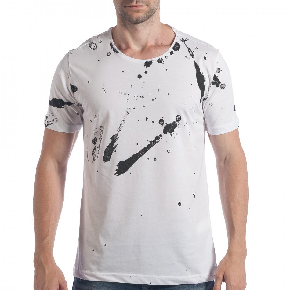 Ανδρική λευκή κοντομάνικη μπλούζα 2Y Premium tsf090617-49
