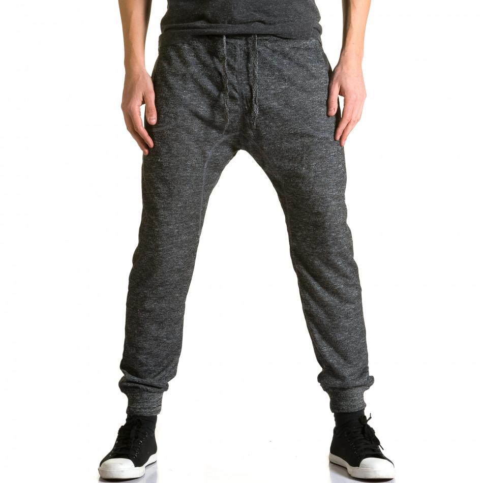 Ανδρικό γκρι παντελόνι jogger Dress & GO ca190116-29