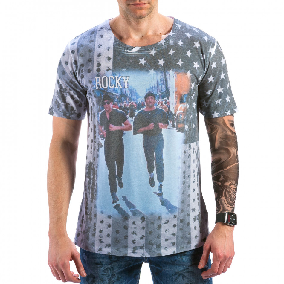 Ανδρική πολύχρωμη κοντομάνικη μπλούζα Catch il180215-98