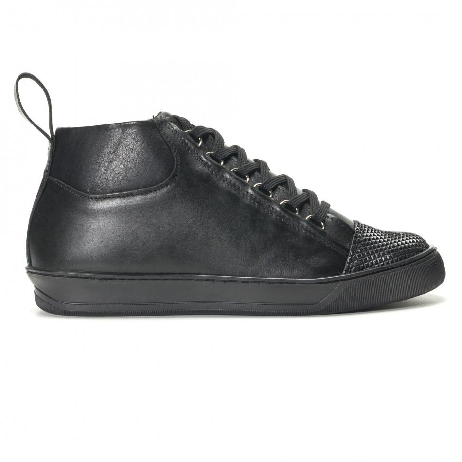 Ανδρικά μαύρα sneakers Shoes in Progress it140916-24 - Fashionmix.gr de9ae751389