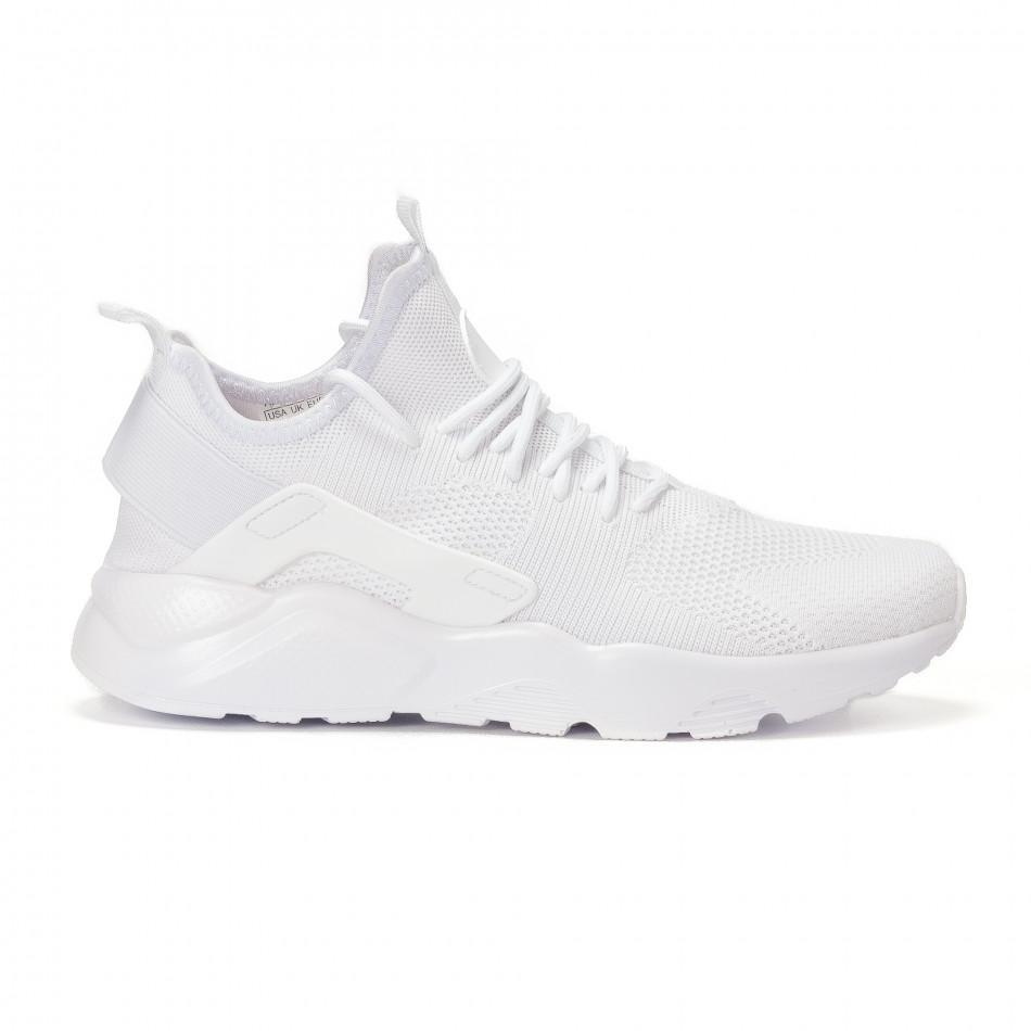 4db181ba2455 Ανδρικά λευκά υφασμάτινα αθλητικά παπούτσια it160318-4 - Fashionmix.gr