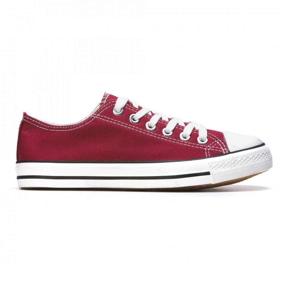 Ανδρικά κόκκινα sneakers Dilen It050216-2
