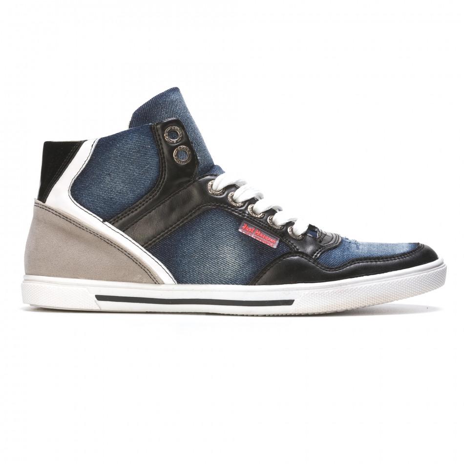 Ανδρικά γαλάζια sneakers Staka It050216-15