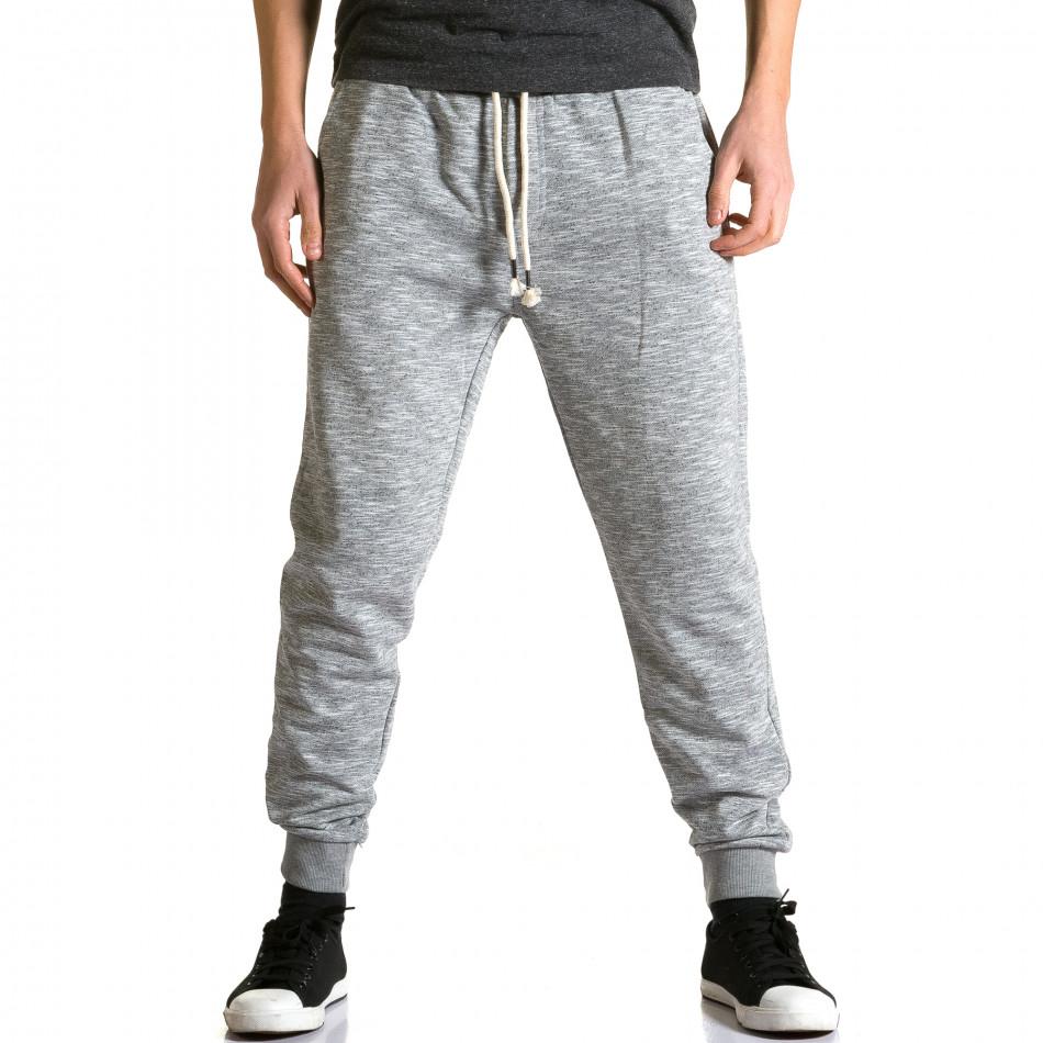 Ανδρικό γκρι παντελόνι jogger Enos ca190116-31