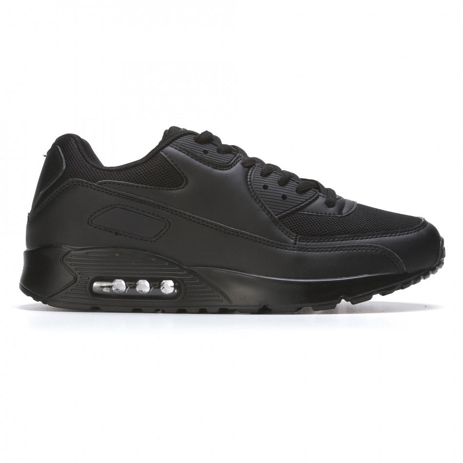 Ανδρικά μαύρα αθλητικά παπούτσια Fast Lee It050216-7
