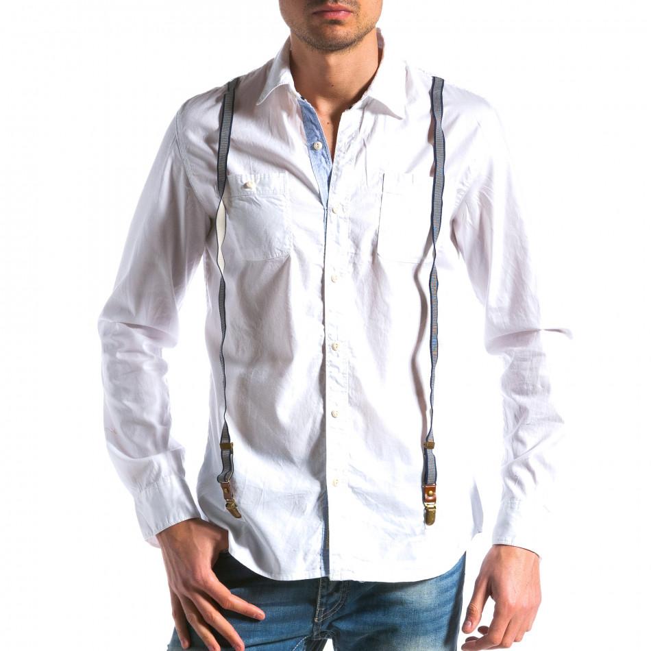 Ανδρικό λευκό πουκάμισο Bread & Buttons tsf100214-9