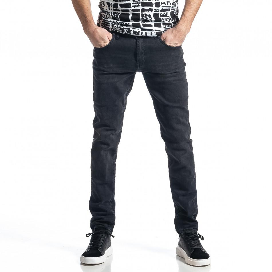 Ανδρικό μαύρο τζιν Long Slim tr010221-28