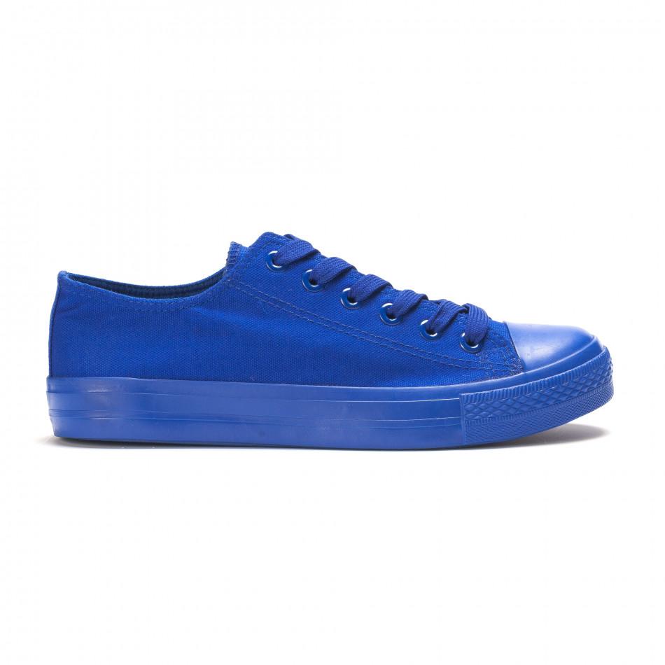 Ανδρικά γαλάζια sneakers iv220420-2