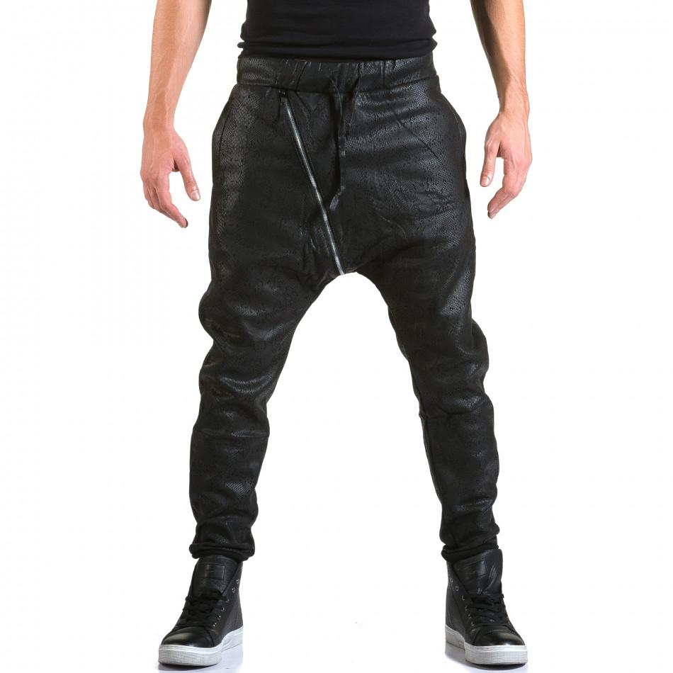 Ανδρικό μαύρο παντελόνι jogger Top Star it211015-60