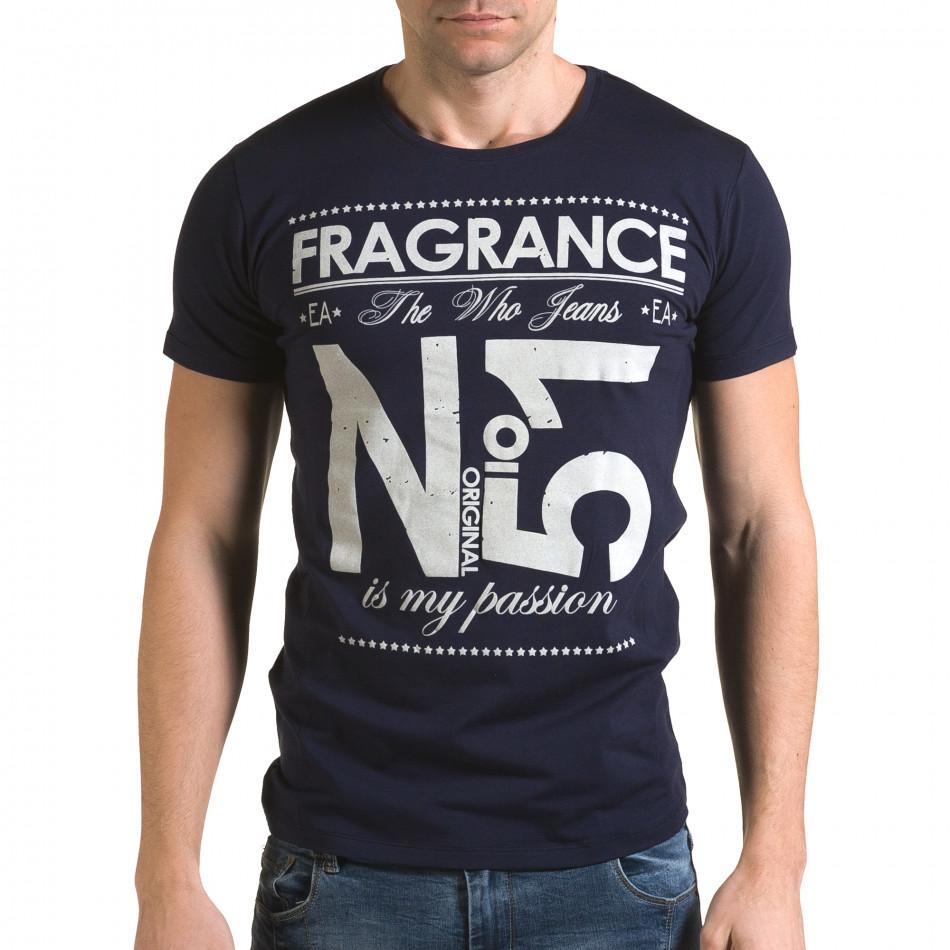 Ανδρική γαλάζια κοντομάνικη μπλούζα Lagos il120216-28