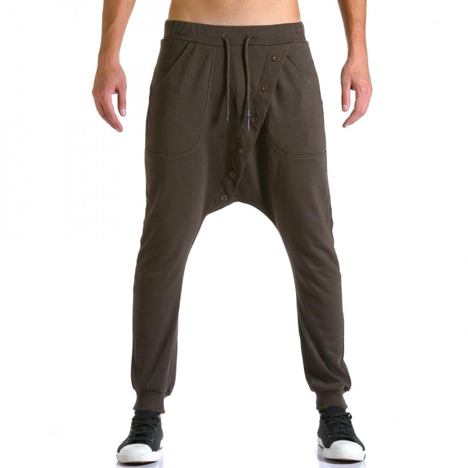 Ανδρικό καφέ παντελόνι jogger Devil Slayer ca260815-25