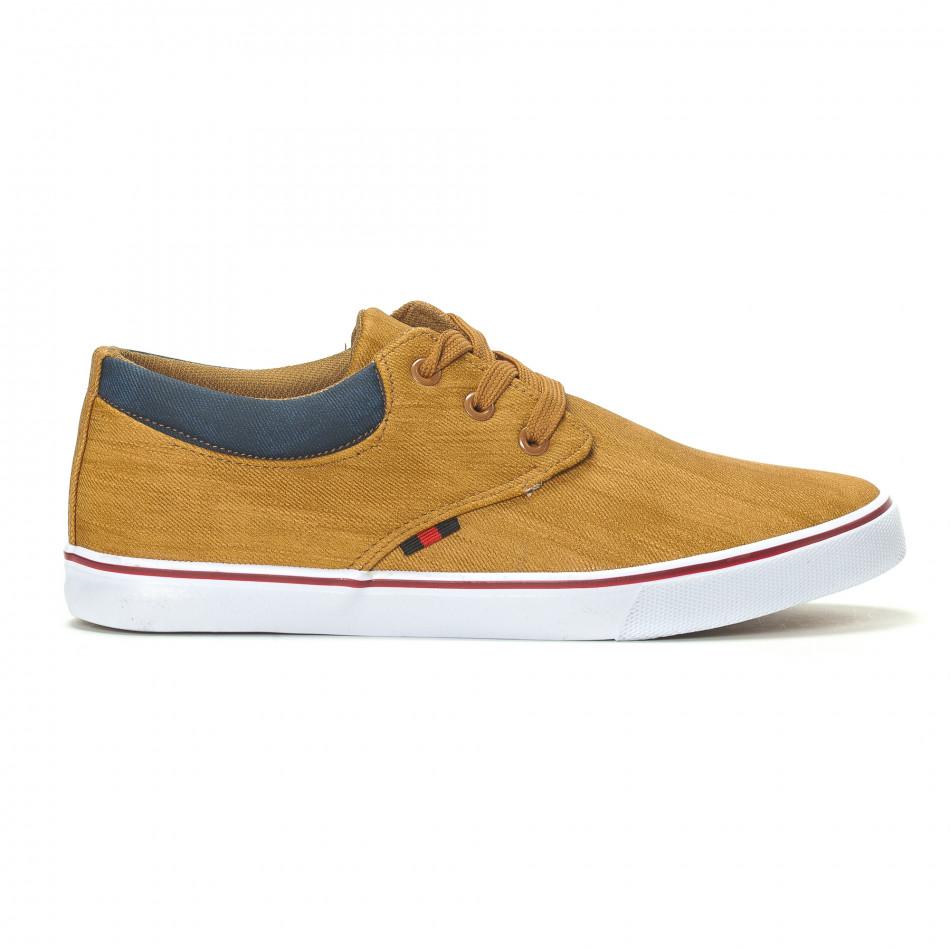 Ανδρικά sneakers σε χρώμα camel it240418-23