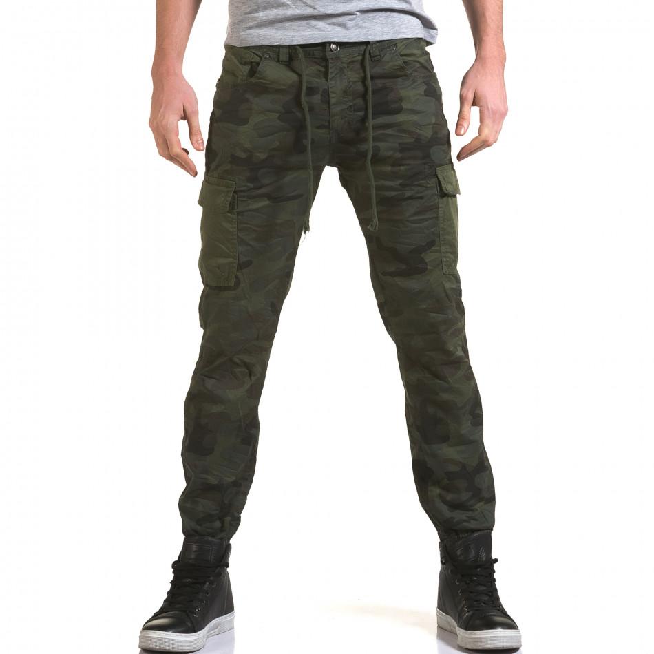 Ανδρικό πράσινο παντελόνι Yes Design it090216-11