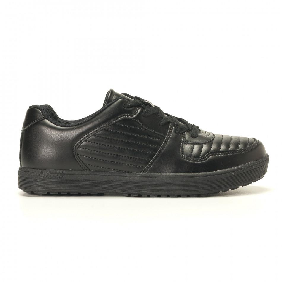 Ανδρικά μαύρα sneakers Flair it020617-7