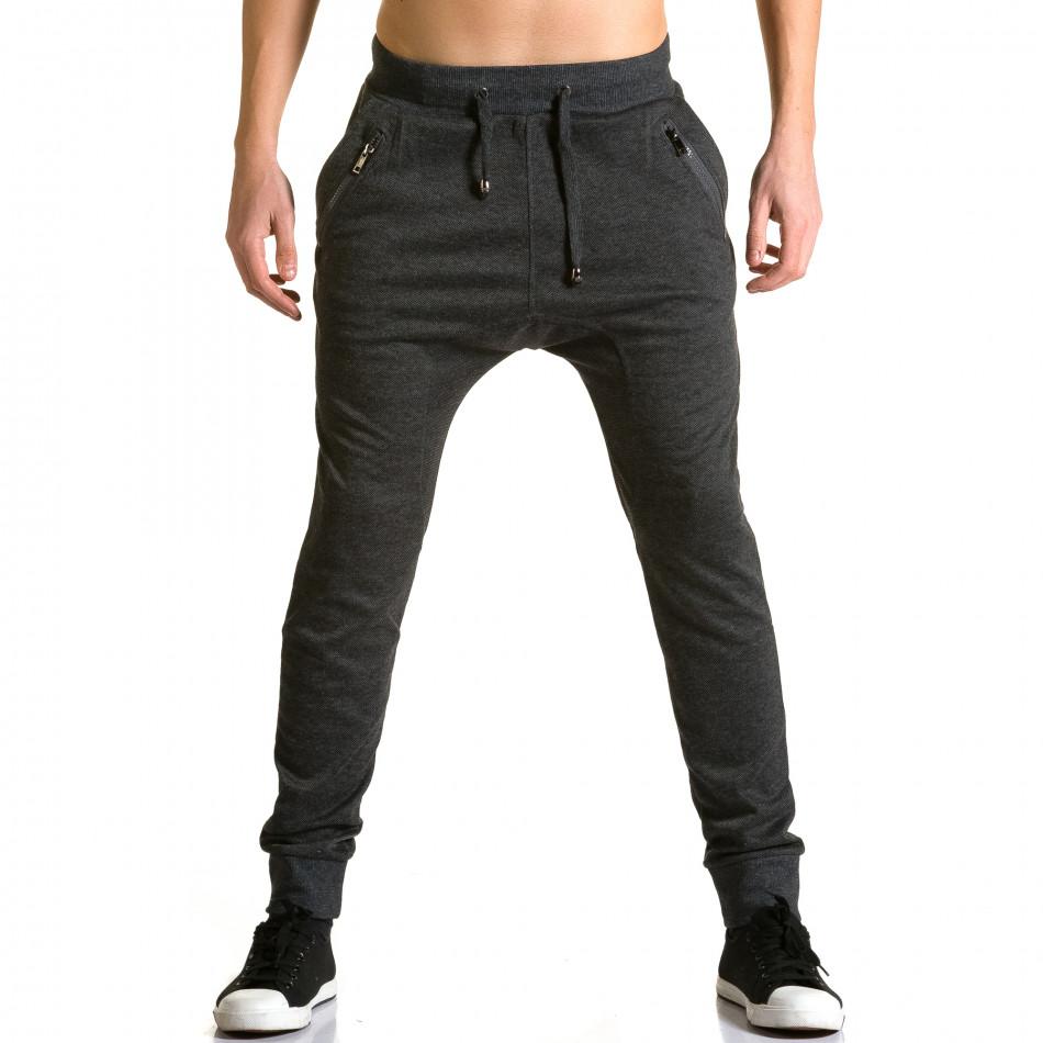 Ανδρικό μαύρο παντελόνι jogger Furia Rossa ca190116-19